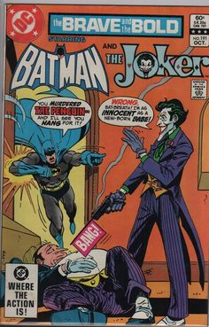 Joker in Brave and the Bold 191 comic, KEY Batman, Penguin book, Gifts , Bronze age art. 1982 DC Comics in NM- Comics Vintage, Old Comics, Vintage Comic Books, Joker Batman, Joker And Harley, Spiderman, Joker Art, Batman Comic Books, Comic Books Art