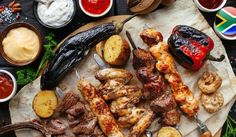 """You might wonder why South Africa Heritage Day is called Braai Day and why so many South Africans celebrate the day with a somewhat extravagant braai. If you take a look at the history of Heritage Day in South Africa, you will notice that it was actually celebrated as """"Shaka Day"""" by the Zulus in KZN. George Foreman, Halal Recipes, Healthy Recipes, Recetas Halal, Salsa Barbacoa Casera, Tapas, Cancer Causing Foods, Cancer Foods, Smoker Cooking"""