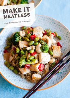 Cashew Tofu Quinoa Bowls