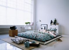 Lits de sol sur pinterest for Revetement sol chambre adulte