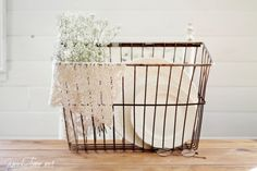 a 2 year old and a wire basket - Knick of Time