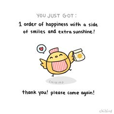There should be a place where you could go to that gives out little happy things to cheer you up instead of food. :D