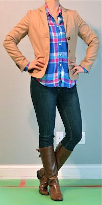 Outfit Posts: outfit post: bright plaid shirt, ...