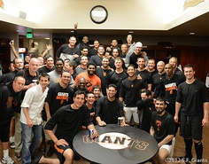 SF Giants celebrating Matt Cain's perfect game