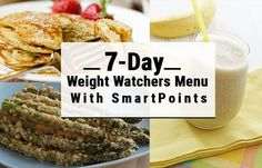 7-Day Weight Watchers Menu with SmartPoints