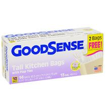 Bulk Good Sense 13-Gallon Tall Kitchen Trash Bags, 14-ct. Packs at DollarTree.com