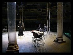 Three Sisters. Royal Exchange Manchester. Scenic design by Liz Ascroft.