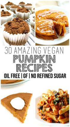 30 Amazing Vegan Pumpkin Recipes (Gluten-Free, Oil-Free & No Added Sugar)  Pinterest | https://pinterest.com/elcocinillas/