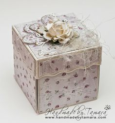 Handmade by Tamara: Wedding explosion box