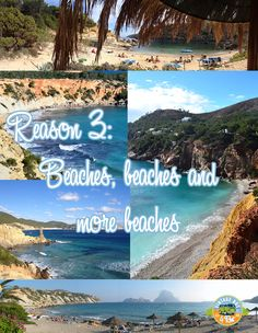 Reason 3   beautiful beaches of Ibiza Enjoy#sun# sea# vintagebus#