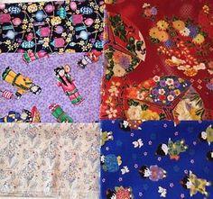 Asian Themed Fabric Set, 5 Cotton Fabrics, Quilt Fabric, Down Sizing  | eBay
