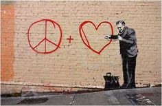Banksy Peaceful Hearts Doctor - San Francisco, California