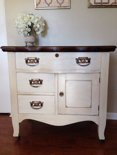 Refinished Antique Oak Wash stand / Commode / Dry Sink www.facebook.com/FromAttictoAmazing