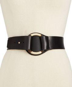 Michael Michael Kors Leather and Tortoise Belt