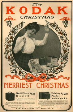 Amazing Vintage Christmas Ads of Kodak from the 1900s