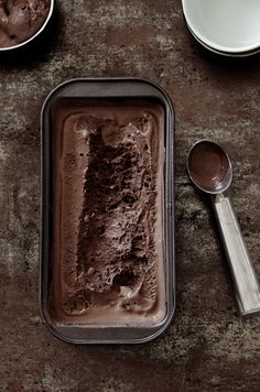 Chocolate ice cream by Food and Cook