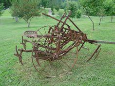 Antique farm equipment horse drawn riding cultivator / plow McCormick ...