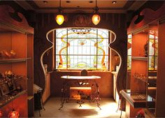 art nouveau architecture | Art Nouveau Interior Design