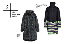 30 Winter Wardrobe Essentials For Every Budget #refinery29  http://www.refinery29.com/2014/10/76693/best-winter-clothes#slide3  3. The High-Tech Parka  Your basic black or gray parka has run its course. This winter's version is graphic, bold, and will stand out among even the brightest wool overcoats.