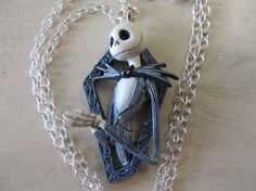 Nightmare Before Christmas Necklace Halloween Jewelry by Letmebe, $19.90