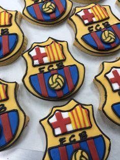 Barcelona soccer cookies