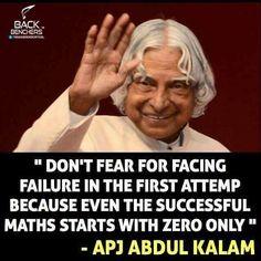 Your Best Teacher Is Your Last Mistake Apj Abdul Kalam Shhh