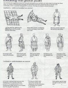 How to wear a great kilt - Outlander tartan available here…