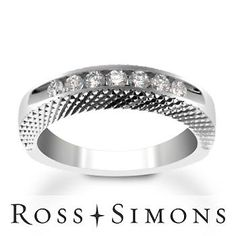 .25 ct. t.w. 7-Stone Diamond Wedding Ring In Platinum. Size 6.5 platinum diamond wedding ring