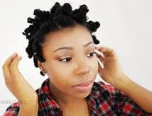 Bantu Knot Out on Natural Hair: How To Take Down Knots on Short Transitioning Hair Tutorial Part 3   Separating the knots further will leave your used to be defined bantu knotout into a fluffy wavy piece of hair. It is best to conceal obvious sectioned of squares off hair by simply fluffing your hair at the roots with an afro pick. You don't want to bring the pick...  Subscribe, It's Free! http://eepurl.com/Am3Kb
