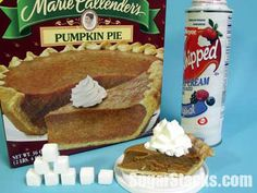 Marie Callender's Pumpkin Pie With whipped cream of pie plus 2 Tbsp. Whipped Cream Sugars, total: Calories, total: 340 Calories from sugar: 124 How Much Sugar, Cream And Sugar, Whipped Cream, Thanksgiving, Pie, Pumpkin, Holidays, Dinner, Places