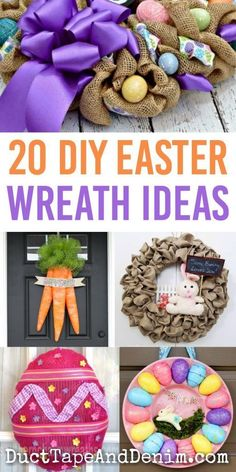 Don't leave your front door bare for Easter! Choose one of these fun DIY Easter wreath ideas to make one for yourself.not just for Easter. Easter Activities, Easter Crafts For Kids, Crafts To Do, Diy Craft Projects, Diy Crafts, Easter Ideas, Wreath Crafts, Diy Wreath, Wreath Ideas