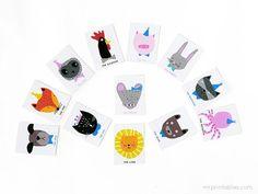 Animal Charades Game Free Printable Template
