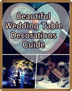 Glamourous wedding table decorations (what this guide is about). Listed. All of this along with a happy couple equals a wedding ceremony you and the guests of yours will be impressed and wowed at how beautiful your wedding is and this will not cost you the bank.