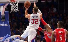 Blake Griffin, 4k, dunk, LA Clippers, basketball players, NBA, Los Angeles Clippers