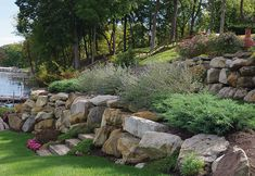 There are lots of affordable backyard landscaping ideas you can look into. For a backyard landscape upgrade, you don't need to spend so much cash to get an outdoor look that is easy and affordable. Terraced Landscaping, Landscaping On A Hill, Landscaping With Rocks, Landscaping Ideas, Privacy Landscaping, Acreage Landscaping, Landscaping Edging, Landscaping Retaining Walls, House Landscape
