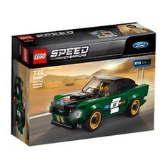 Drive a classic race with the LEGO® Speed Champions 1968 Ford Mustang Fastback, featuring authentic design details and a cockpit for the included racing driver minifigure, plus a 'timing' board. Mustang Ford, Ford Mustangs, 1968 Ford Mustang Fastback, Lego Juniors, Porsche 911 Rsr, Ferrari 488, Bugatti, Rallye Automobile, Lego Speed Champions