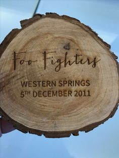 Wedding Stationery by Monsoon Creative - wood rounds Western Springs, Wood Rounds, Foo Fighters, Monsoon, Wedding Stationery, Branding, Graphic Design, Creative, Crafts