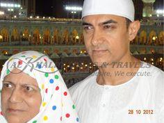 Aamir Khan with Mother Zeenat Hussain