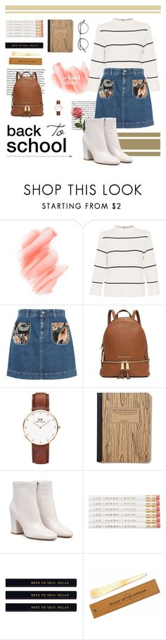 """School Vibes"" by tsaniaardhani on Polyvore featuring Whiteley, Birchrose + Co., L.K.Bennett, STELLA McCARTNEY, Daniel Wellington, Izola, Garrett Leight and vintage"