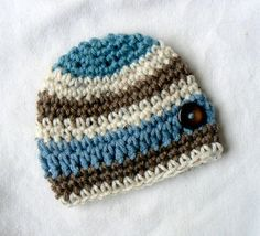 e5e56f9c883 Items similar to Stunning Baby Hat Contrasting Bands of Colors that POP!  New Season Awesome Handcrafted Newborn Very Special Infant Gift READY on  Etsy