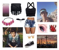 """""""fair with hayes"""" by magcon12345607 ❤ liked on Polyvore featuring Vans, Kate Spade and Boohoo"""
