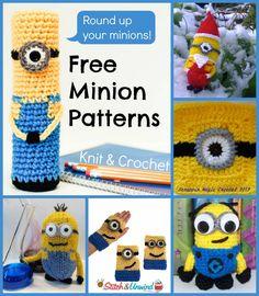 Free Minion Patterns - Despicable Me: 6 Free Minion Patterns.  Checked. FREE PATTERNS 5/14.