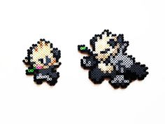 Pokemon X and Y Perler Pancham / Pangoro Choose por ShowMeYourBits Hama Beads Pokemon, 3d Pokemon, Pokemon Sprites, Pokemon X And Y, Pokemon Craft, Pancham Pokemon, Pixel Art, Peler Beads, Iron Beads