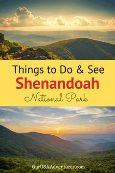 Things to do & see in Shenandoah National Park. Drive along Skyline Drive and see the stunning overlooks and wildlife. Camping, lodges and eating information as well as places to visit during your trip. National Park Lodges, Us National Parks, Canada Travel, Travel Usa, Travel Tips, Travel Hacks, Italy Travel, Travel Guides, National Park Passport