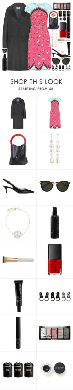 """I hear the birds on the summer breeze, I drive fast, I am alone in midnight"" by pure-and-valuable ❤ liked on Polyvore featuring Prada, Mary Katrantzou, Marni, Simone Rocha, Gianvito Rossi, CÉLINE, Givenchy, St. Tropez, Eve Lom and NARS Cosmetics"