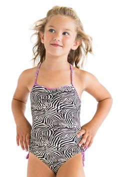 4490b625ea4b6 Shop At Stella Cove | Zebra Print Swimsuit For Girls Kids Bathing Suits,  Luxury Swimwear