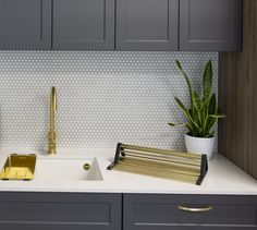 For a cohesive and balanced look match your tapware and handles to your kitchen sink accessories.