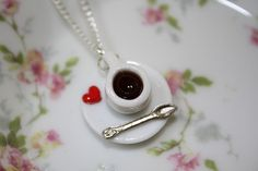 More coffee  miniature necklace