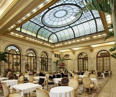 high tea at The Palm Court in The Plaza Hotel-NYC