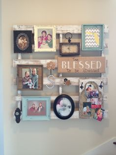 Using an old pallet as unique wall decor! Super easy DIY project.